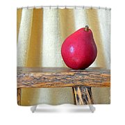 Red Anjou Pear Shower Curtain