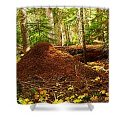 Red Ants Nest Shower Curtain