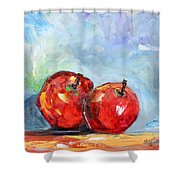 Red Apples Shower Curtain
