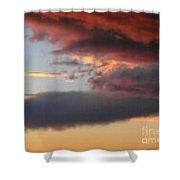 Red Arizona Sky Shower Curtain
