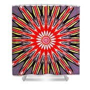 Red Arrow Abstract Shower Curtain