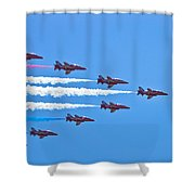 Red Arrows 1 Shower Curtain