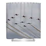 Red Arrows 50 Shower Curtain