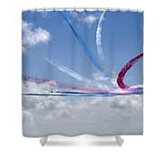 Red Arrows Aerobatic Display Team Shower Curtain