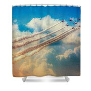 Red Arrows Smoke The Skies Shower Curtain