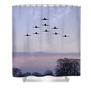 Red Arrows Winter Training  Shower Curtain