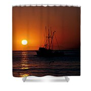 Red At Night Sailor's Delight Shower Curtain