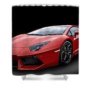 Red Aventador Shower Curtain