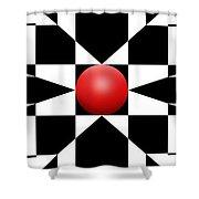 Red Ball 1 Panoramic Shower Curtain