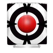 Red Ball 6 Panoramic Shower Curtain
