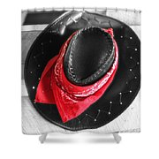Red Bandana And Cowboy Hat Shower Curtain