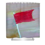 Red Banner Shower Curtain