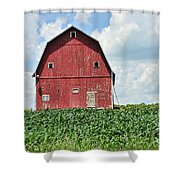 Red Barn And New Corn Shower Curtain