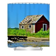 Narrow River Shower Curtain