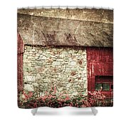 Red Barn Enhanced Shower Curtain