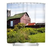Red Barn In Groton Shower Curtain