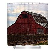 Red Barn Photoart Shower Curtain