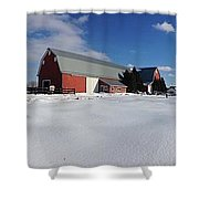 Red Barn Series Feat. Snow Shower Curtain