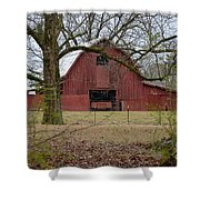 Red Barn Series Picture A Shower Curtain