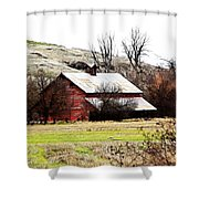 Red Barn Shower Curtain by Steve McKinzie