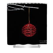 Red Bauble Shower Curtain