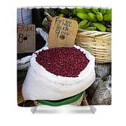 Red Beans At Nicaragua Market Shower Curtain