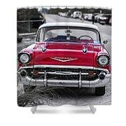 Red Belair At The Beach Standard 11x14 Shower Curtain