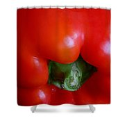 Red Bell Pepper Shower Curtain