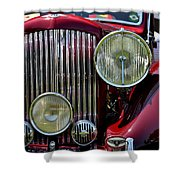 Red Bentley Grill Shower Curtain