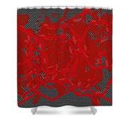 Red Black White Expressions Scramble  Black Red Shower Curtain