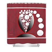 Red Black White Expressions Sparkling Wine Shower Curtain