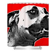 Red Blooded Scooby Dog Shower Curtain