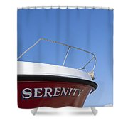 Red Boat Serenity 2 Shower Curtain