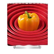 Red Bowls And Pepper Shower Curtain