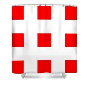 Red Boxes Shower Curtain
