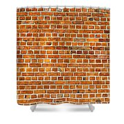 Red Brick Wall Texture Shower Curtain