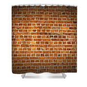 Red Brick Wall Texture With Vignette Shower Curtain