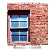 Red Brick Window Shower Curtain