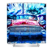 Red Buick  Shower Curtain