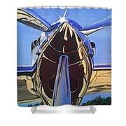 Red Bull P38 Lightning Port Engine Warbird Shower Curtain