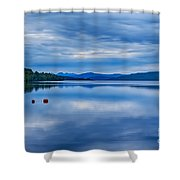 Red Buoys On Loch Rannoch Shower Curtain