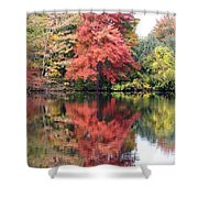 Red Burst Shower Curtain