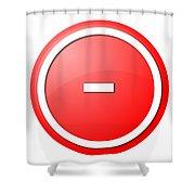 Red  Button Minus Shower Curtain