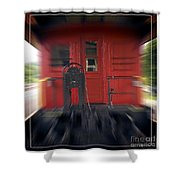Red Caboose Shower Curtain