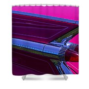 Red Caddy Tail Lights Shower Curtain