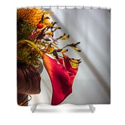 Red Cala Shower Curtain