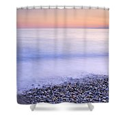 Red Calm At The Beach Shower Curtain