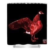 Red Canada Goose Pop Art - 7585 - Bb  Shower Curtain