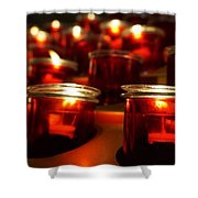 Red Candles Shower Curtain
