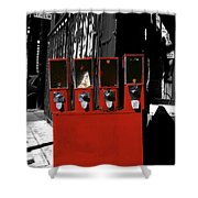 Red Candy Shower Curtain